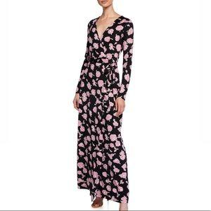 New Julian Floral Long Sleeve Wrap Dress from DVF